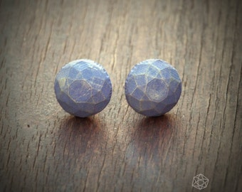 Blue gemsone shaped concrete studs