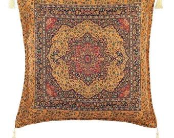 Turkish Kilim Pillows  17x17 Bohemian Home Decor Handwoven Ethnic Tribal Turkish Kilim Pillow Cushion Cover Case Throw Pillows