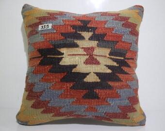 geometric kilim pillow 20x20 vintage turkish kilim cushion cover SP5050-339