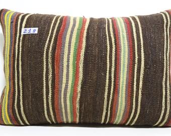 16x24 Vintage Kilim Pillow,Organic Pillow,Lumbar Pillow,Lumbar Kilim Pillow Cover 16x24 Decorative Pillow,Boho Pillow  SP4060-218