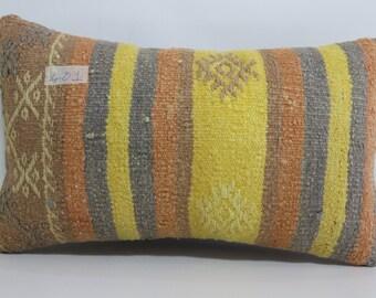 lumbar kilim pillow striped pillow 12x20 throw pillow handwoven kilim multicolour pillow kilim pillow bedding pillow case SP3050-401