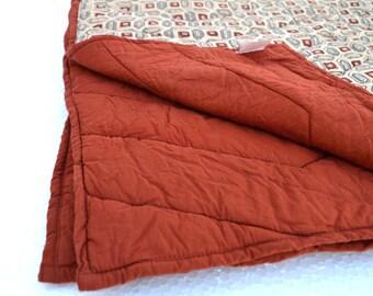 Kalamkari Quilted Blanket - Retro