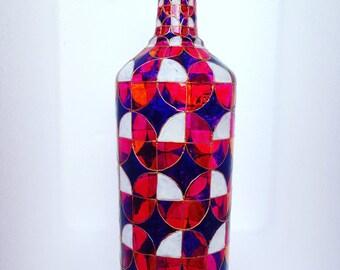 boho lamp,Bohemian Hanging Lantern,bottle lamp,shadow lamp,gypsy lamp,gypsy decor,glassart,home decor,lamp,stained glass lantern,boho decor