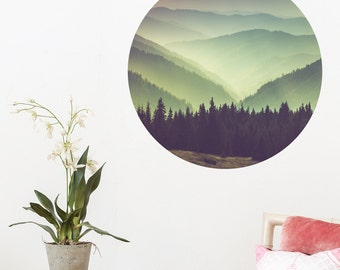 Mountain Scenery Dot Wall Decal PC0218