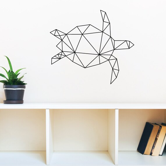 geometric turtle wall decal sticker large geometric triangle vinyl wall stickers