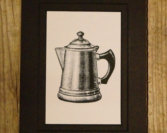 Vintage Coffee Pot | Coffee Pot | Vintage Coffee Decor | Coffee Decor | Coffee Pot | Coffee | Coffee Print | Home Decor | Kitchen Print |
