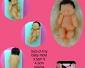 Baby doll silicone mold tiny size baby girl boy mould free shipping gumpaste sugarpaste fondant fimo sculpey chocolate soap