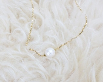 Cotton pearl necklace • NSH-03