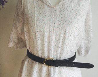 Beautiful White Vintage Nautical dress with multi colour spots