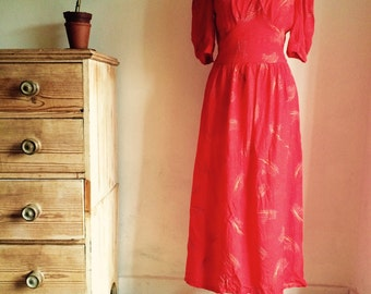Gorgeous Long Red Vintage Dress