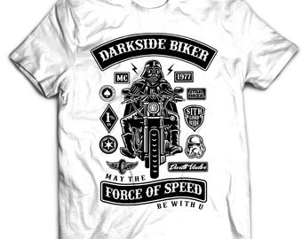 Darth Vader - Mens Funny T-Shirt Star Wars Biker The Force Awakens VII Harley