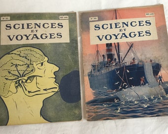 French Vintage Sciences & Voyages Magazines