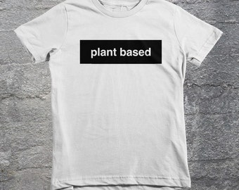 Plant Based Organic Kids Shirt, Vegan Lifestyle, Vegetarian, Health,