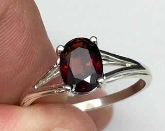 Natural red Spinel ring