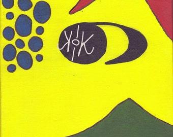 Toyah abstract 8x10 acrylic on canvas