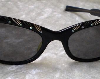 Eyeglasses Cat Eyes Tiger Brown Sale