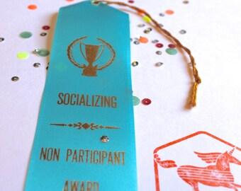 Socializing - Non Participant Award  - Adult Award Ribbons