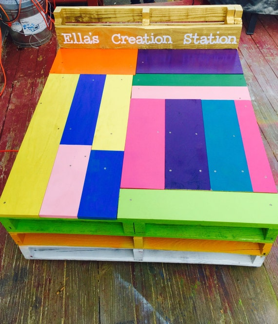 kids arts and crafts table creation station by. Black Bedroom Furniture Sets. Home Design Ideas