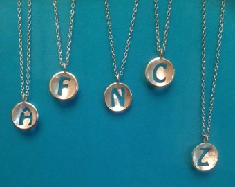 Sterling Silver 925 Initial Necklace