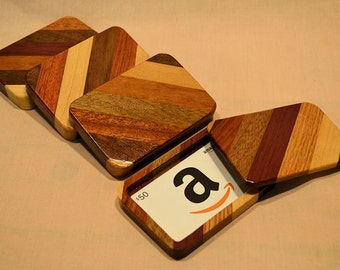 Wooden gift card box