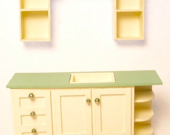 1:24 scale miniature dollhouse furniture kit Carmel Cottage kitchen