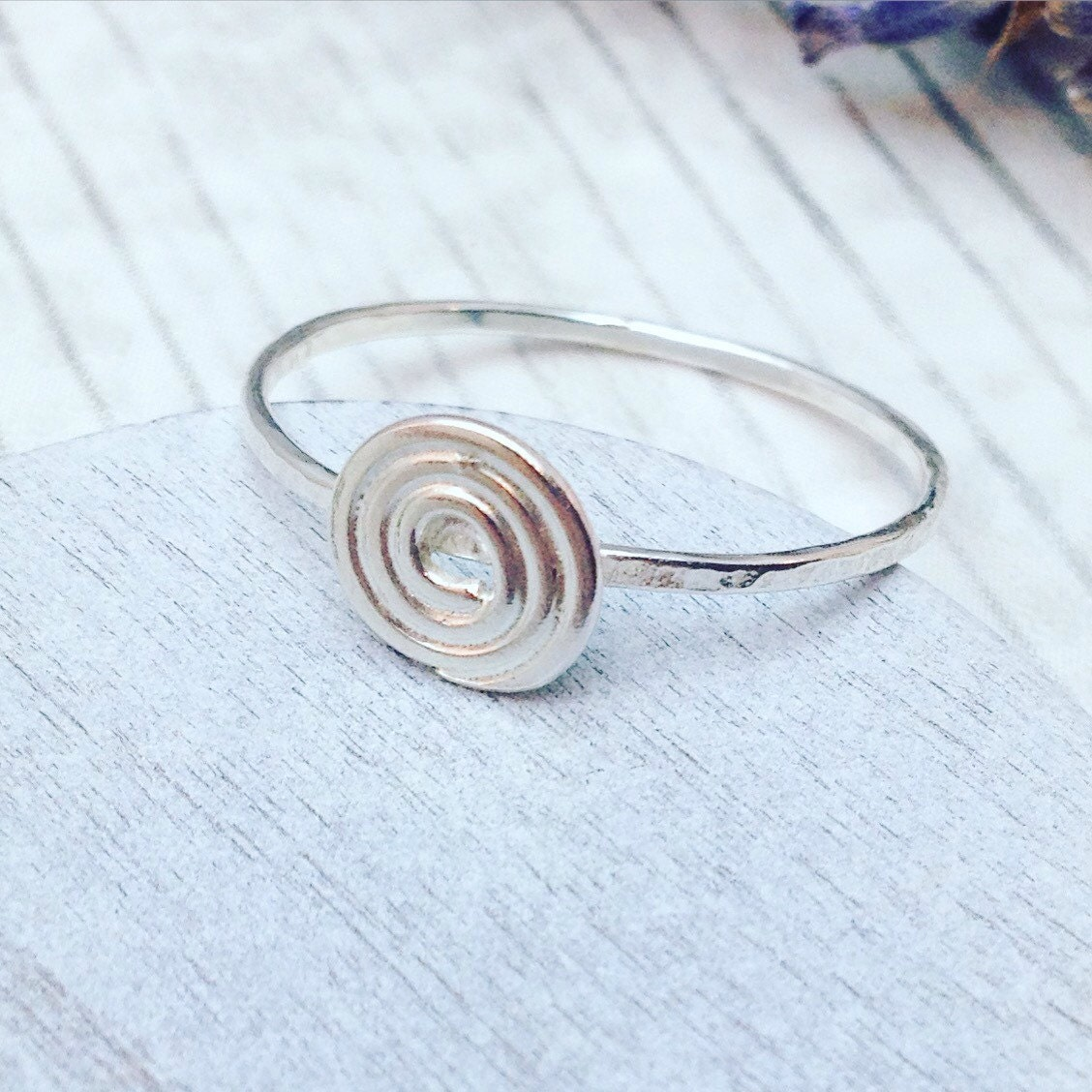 swirl ring spiral ring sterling silver spiral ring silver