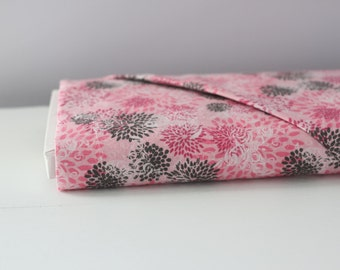 Pink and Charcoal Floral By The Yard