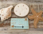 beach themed cookies 1 dozen