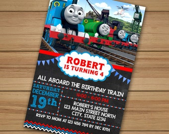 Thomas the train birthday invitations, Thomas The Train Invitation, thomas the train party, Thomas Invitation, Thomas and Friends Birthday