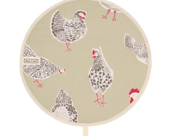 Insulated Aga Chefs Pad - 'The Chickens' design