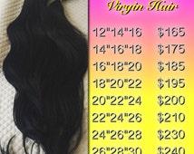 Virgin Human Hair Bundles