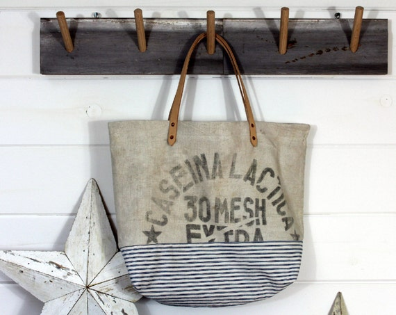 Grian Sack Ticking Tote