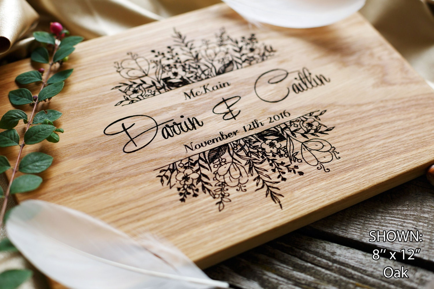 Unique Gifts Wedding: Personalized Cutting Board Wedding Gift Custom Wedding Gift
