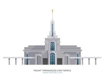 Mount Timpanogos Utah Temple (digital file)