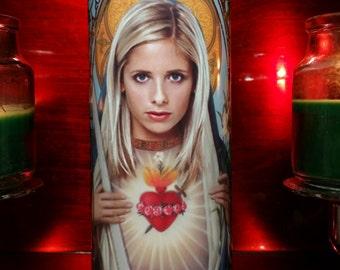 Buffy the Vampire Slayer -  Buffy  - Sarah Michelle Gellar - Celebrity Saint prayer Candles