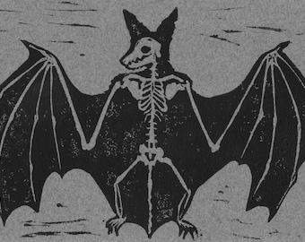 Bat Skeleton Relief Print