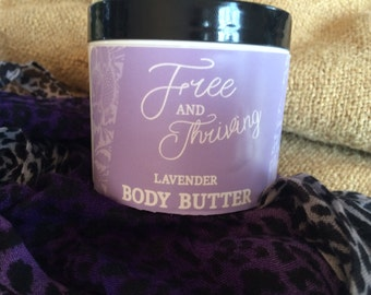 Whipped Body Butter Lotion: (Choice of two essential oils, Lavander or Geranium)