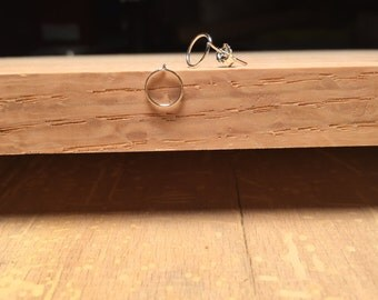 Tiny Open Circle Earrings - Sterling Silver