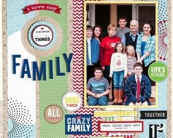 "Family/Holiday/Birthday 6""x6"" Scrapbook"