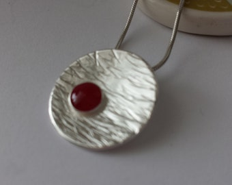 Silver resin pendant