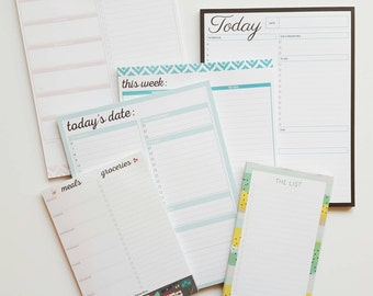 Perfectly Imperfect Notepads- deeply discounted planning pads and to-do lists due to small imperfections