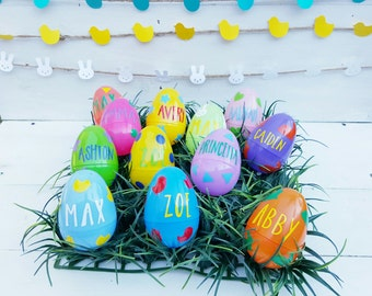 Personalized Easter Eggs - Personalized Plastic Easter Eggs - Easter Eggs - Easter Egg Hunt - Easter Decor - Customized Easter Eggs