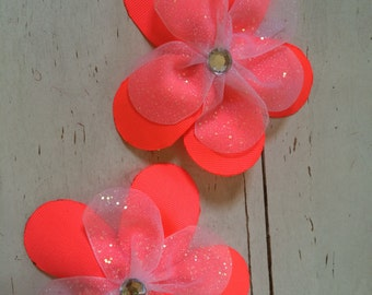 Double layered large flower bow