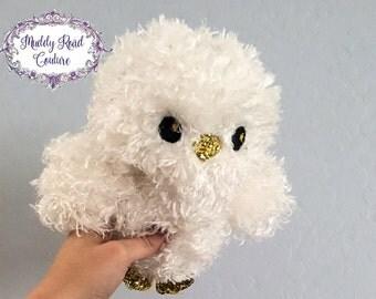 White owl,stuffed animal,stuffed owl,plushie,birthday gift,christmas gift,nursery,new baby gift,baby shower gift,ready to ship