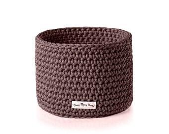 Woven basket - Storage basket - Storage box - Decorative basket - Kids room basket - Brown storage basket - Easy to care basket - Home decor