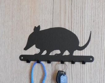 Armadillo key holder Armadillo leash holder Armadillo Wall Art