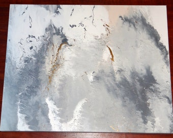Ivory Abstract Marble Painting