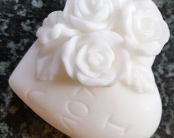 I Love U - Rose Heart -  Glycerin Goats Milk Soap
