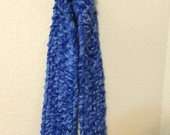 Blue Knitted Scarf  FREE Shipping!