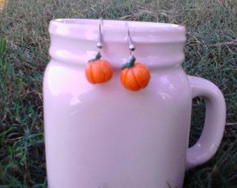 Pumpkin Halloween dangle earrings